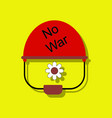 flat icon design collection no war military vector image vector image