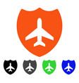aviation shield flat icon vector image