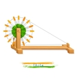 Tricolor Charkha Spinning Wheel vector image vector image