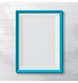 Realistic blue frame vector image