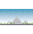Pyramids in Giza vector image vector image