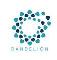 concept cloud dandelion logo vector image