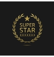 Super star badge vector image