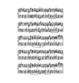 Sheet of music stave notes vector image