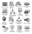 Business management icons Pack 09 vector image