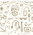 hipster style seamless pattern Sketches vector image