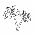 Two palms icon outline style vector image
