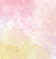 watercolor background with triangle design vector image