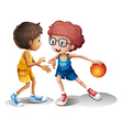 Cartoon Kids basketball vector image