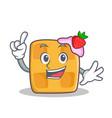 Finger waffle character cartoon design vector image