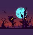 halloween cartoon background house vector image