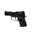 Handgun isolated on white background vector image
