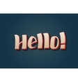 Hello - hand drawn lettering vector image