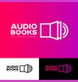 icon library audio book logo vector image