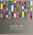 raffic jam on the road vector image