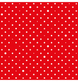 Red White Star Polka Dots Background vector image