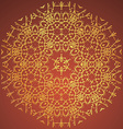 Round Ornament Oriental pattern with tribal vector image