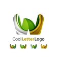 Set of abstract W letter company logos Business vector image