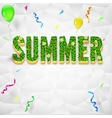 Summer with confetti serpentine vector image