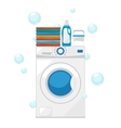 Washing machine and wash clothes vector image