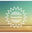 summertime beach 2 vector image