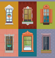 colorful windows set vector image