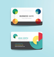 modern creative business card template vector image vector image