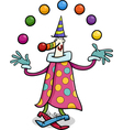 circus clown juggler cartoon vector image vector image