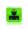 worker with helmet vector image