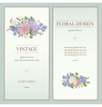 Set of two invitations in vintage style vector image