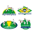 Capoeira logo set vector image