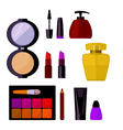 set cosmetic accessories vector image