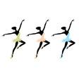 Ballet dancers for your design vector image vector image