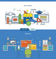back to school and organization of the workplace vector image