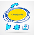 contact info icons element sketch color set vector image