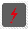 Electric Strike Rounded Square Button vector image