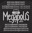 megapolis font vector image