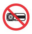 no video vector image