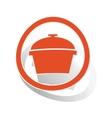 Pot sign sticker orange vector image