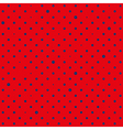 Red Navy Blue Star Polka Dots Background vector image