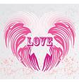 vintage heart shape background vector image