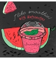 Watermelon Smoothie 02 A vector image