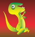 Dinosaur cartoon character vector image vector image