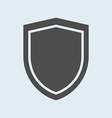 Icon of shield Defense protection or safety symbol vector image