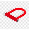 bicycle lock u shaped isometric icon vector image
