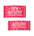 New autumn collection clothing labels vector image vector image