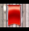 Red bookmark ribbon vector image