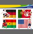 Soccer football players Brazil 2014 group G vector image
