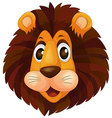 A head of a lion vector image