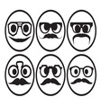 Hipster smiley set2 resize vector image vector image